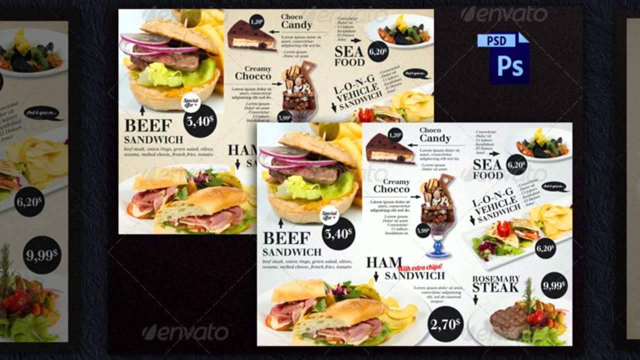 Imbiss Flyer Vorlagen  Fastfood Flyer Werbung gnstige