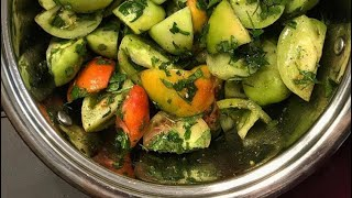 Помидоры по Корейски / Подробный рецепт / Рецепт зелёных помидоров по корейски / Салат закуска