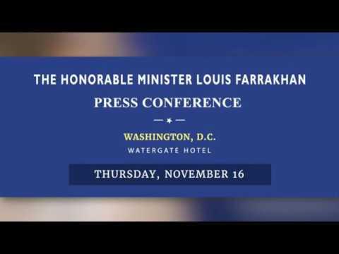 Minister Farrakhan's Washington, D.C. Press Conference Nov.16, 2017