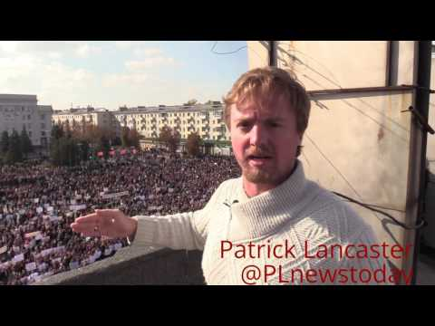 15,000 rally against all armed missions to LPR, OSCE, Ukraine or NATO in Lugansk.