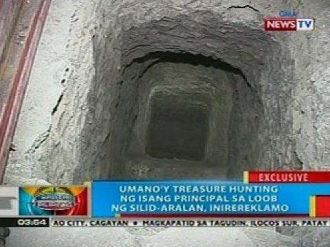 BP: Umano'y treasure hunting ng isang principal sa loob ng silid-aralan, inirereklamo