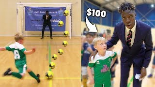 Kids Score a Penalty, Win £100 Football Boots - Challenge
