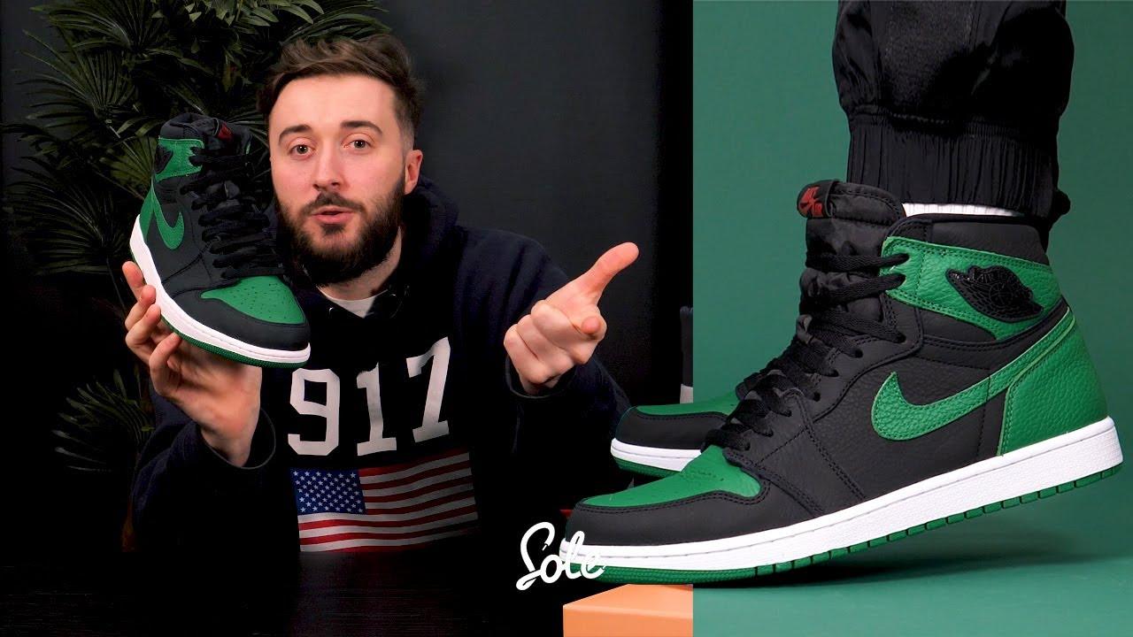 Nike Air Jordan 1 Pine Green Unboxing Hype On Foot Look
