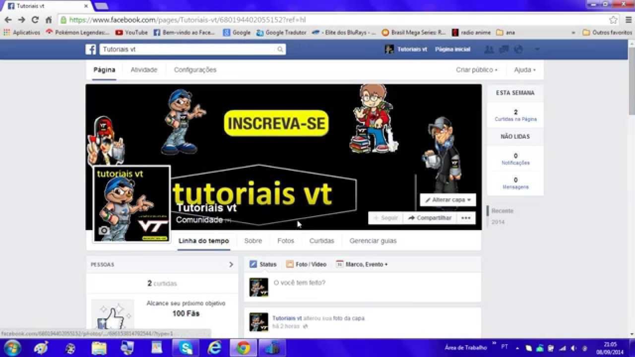 vt#3 como colocar videos do you tube no meu facebook