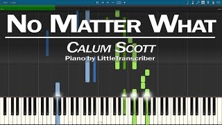Calum Scott - No Matter What (Piano Cover) Synthesia Tutorial by LittleTranscriber
