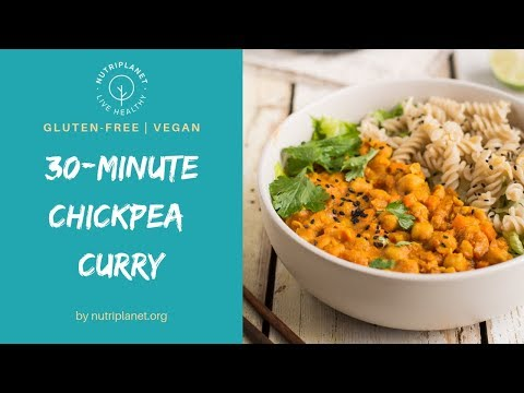 Vegan Chickpea Curry with Tomatoes [Gluten-Free]