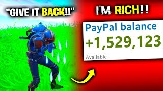 i STOLE His YouTube Money - Fortnite