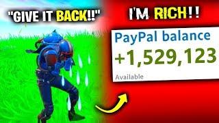 i STOLE His YouTube Money - Fortnite