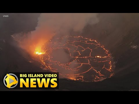 Kilauea Eruption Day Four - Rising Lava Lake Update (Dec. 24, 2020)