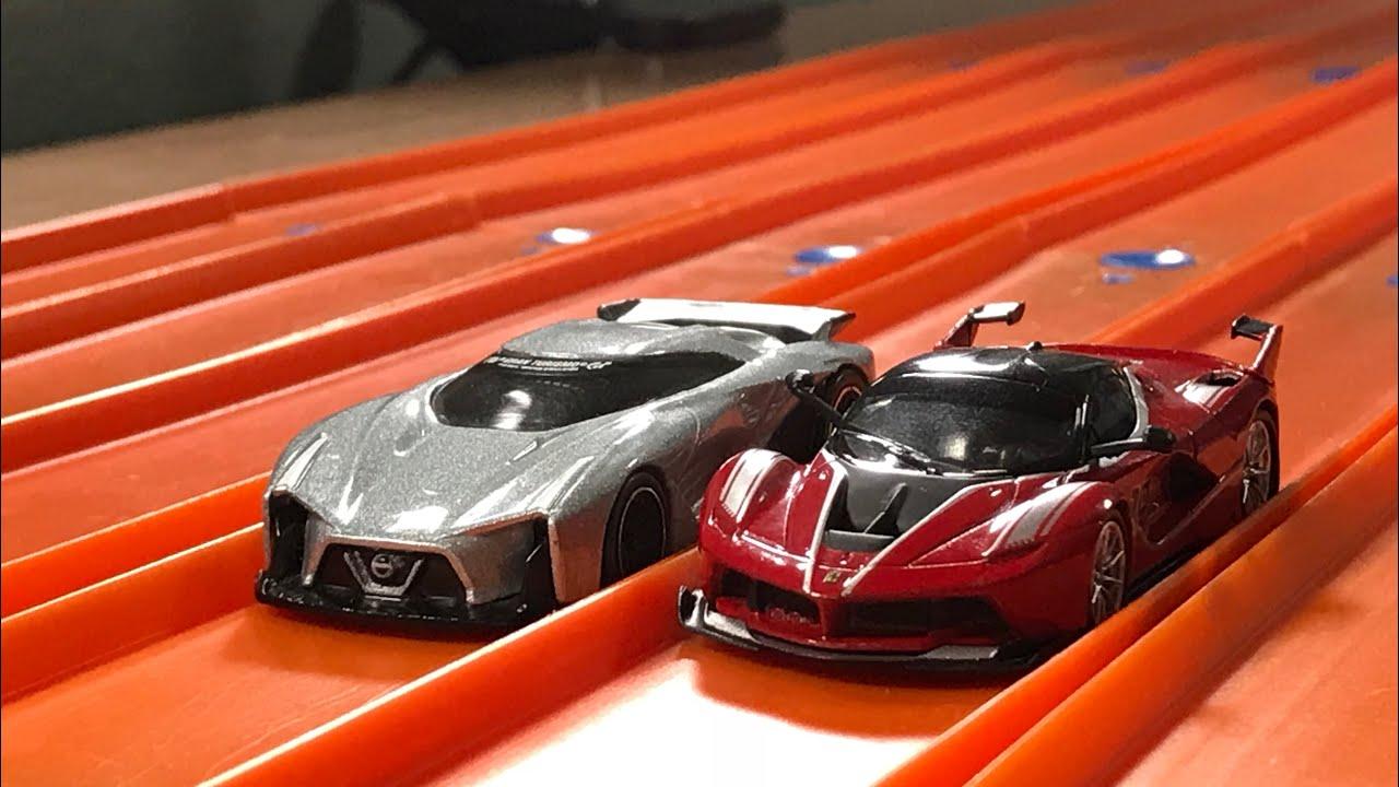 Hot Wheels Ferrari Fxx K Vs Nissan Vision 2020 Concept Jonracer3 Youtube