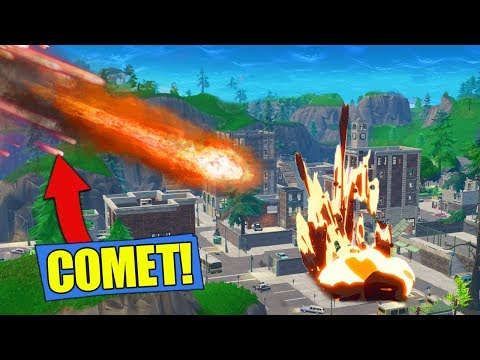 What Happens When A COMET HITS TILTED TOWERS In Fortnite Battle Royale!