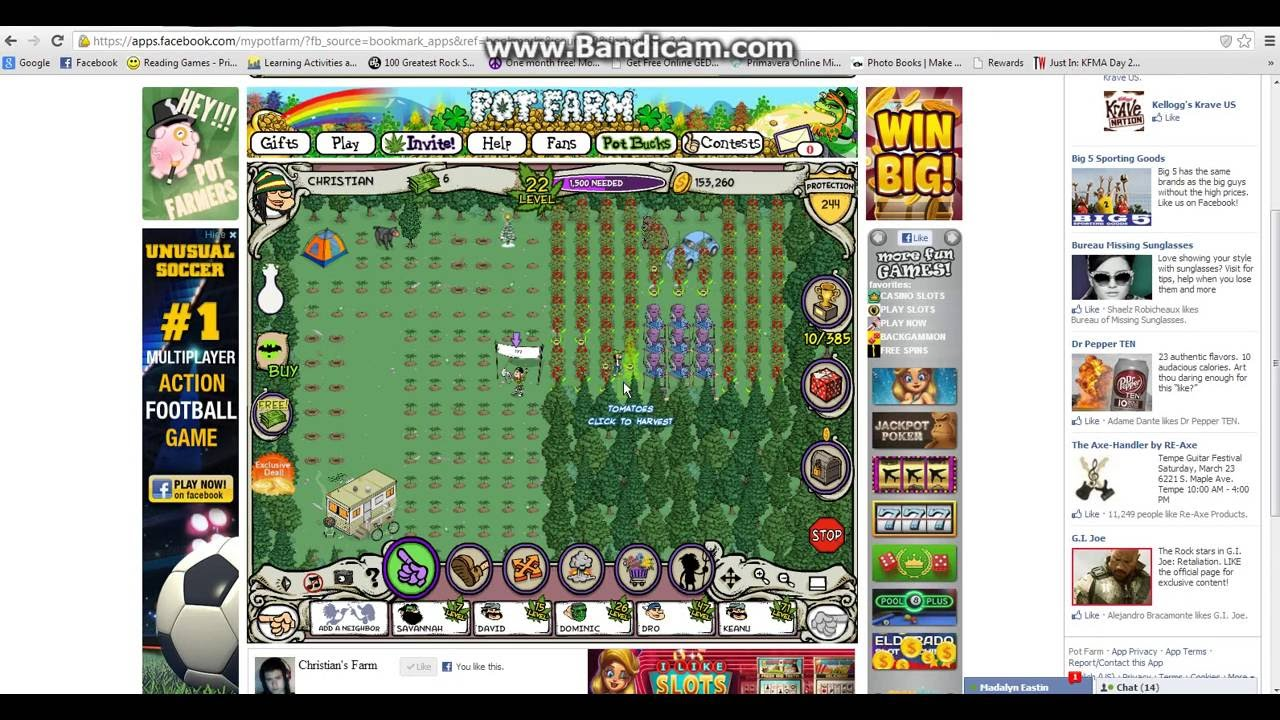 How to hack pot farm on facebook - YouTube