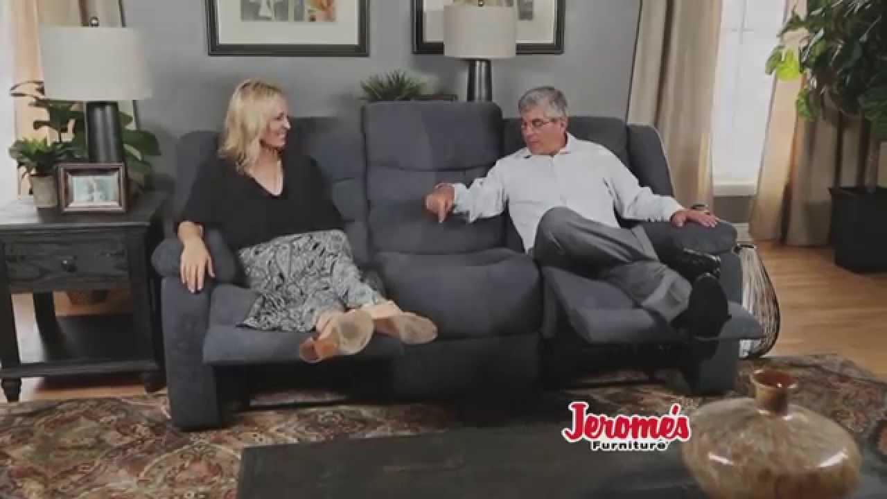 Bon Jeromeu0027s Furniture $399 Double Reclining Sofa   YouTube