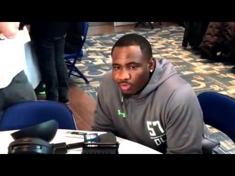 Q&A With Lawrence Thomas Michigan State #Spartans Defensive Tackle #NFLCombine #MSU