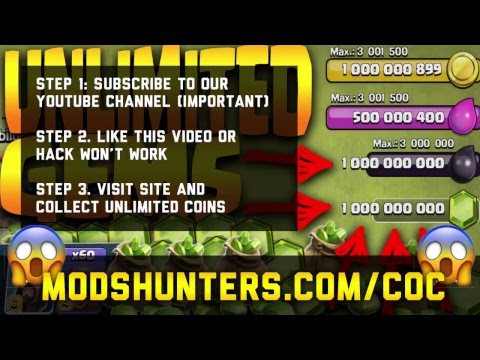 Free Clash Of Clans Hack   Unlimited Gems And Coins