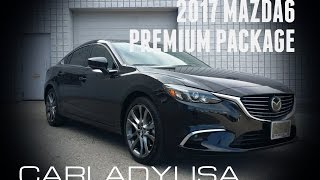 2017 MAZDA6 | Premium Package Black with White Nappa Leather