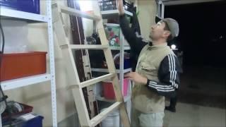 видео Складная чердачная лестница своими руками. Часть 2.