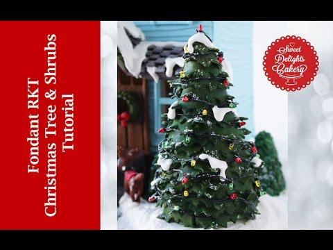 Fondant RKT Christmas Trees & Shrubs