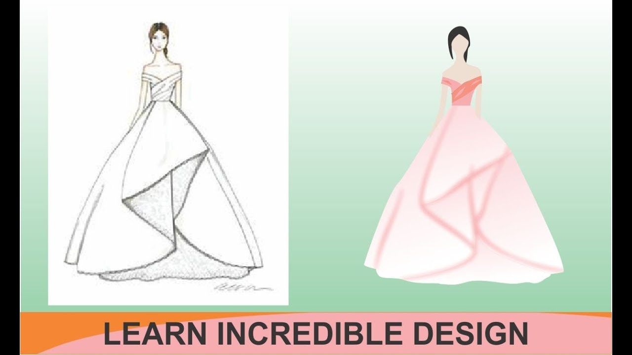 How To Create A Fashion Visual Sketch Illustration In Coreldraw Tutorial Youtube