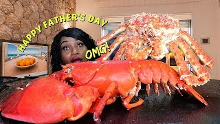 FATHERS DAY SEAFOOD SPECIAL   When Larry the Lobster Meets Curtis the Crab