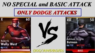 INJUSTICE: WALLY WEST v/s BOSS BATMAN (ONLY DODGE ATTACKS)