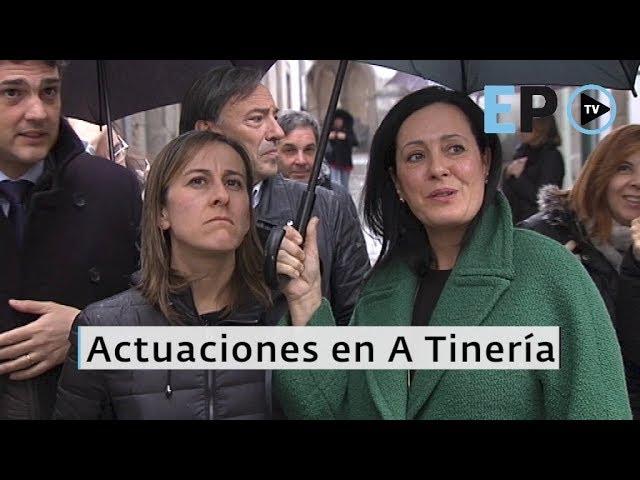 Ethel Vázquez visita A Tinería para informar de las nuevas actuaciones