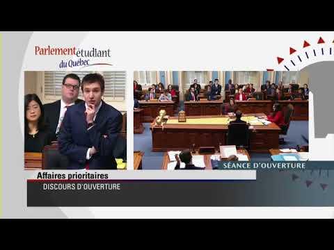 Parlement étudiant du Québec 2018 - 5 janvier - Gouvernement Rouge