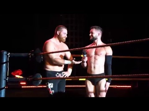 WWE NXT Live Event Chicago 1/16/16 Finn Balor and Sami Zayn speak after the match