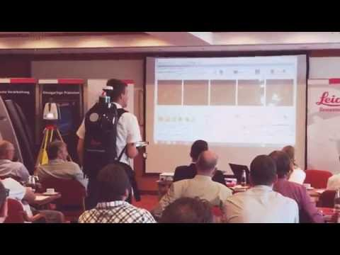 Pegasus Backpack live demo at Leica Geosystems 3D Geo Forum