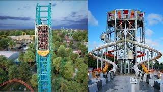 Aquaman Power Wave Water Coaster & Banzai Pipeline! Six Flags Over Texas 2020