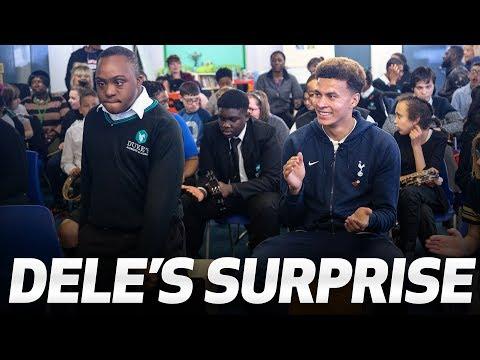 DELE'S SURPRISE | Dele Alli surprises a young Spurs fan supported by Noah's Ark Hospice
