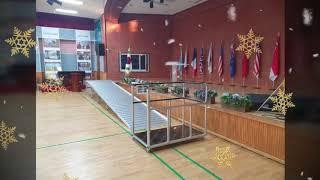 이동식 휠체에 무대강당 이동식경사로 학교 설치사례