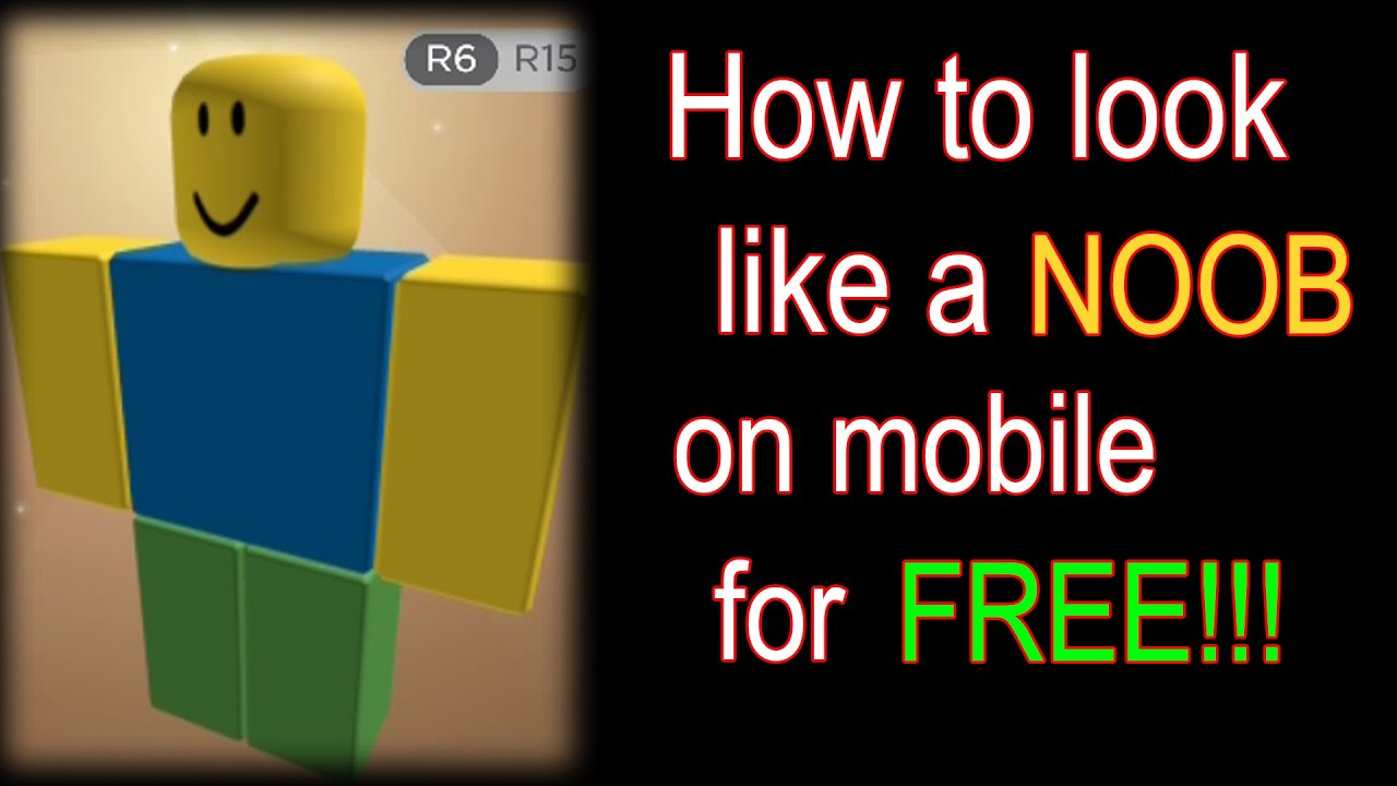 Roblox How To Look Like A Noob On Mobile For Free Ios Android Youtube