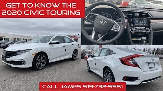 Get to know the 2020 Honda Civic Touring (White)