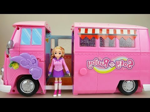Thumbnail: Pink Camping car and Baby doll toys play