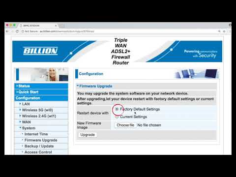 How To Upgrade Billion Router / Modem Firmware / Software
