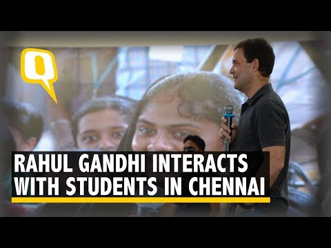 Rahul Gandhi Interacts With Students at Stella Maris Women's