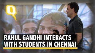 Rahul Gandhi Interacts With Students at Stella Maris Women's College, Chennai