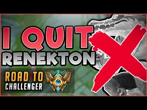 Download Youtube: I QUIT RENEKTON?! CAN THIS NEW CHAMP CARRY ME TO CHALLENGER?! FT. IWILLDOMINATE! League of Legends