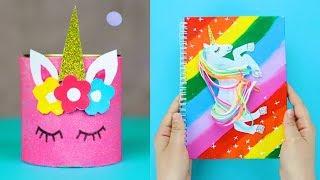 7 DIY Unicorn School Supplies / Unicorn Crafts