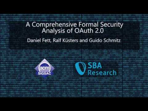 CCS 2016 - A Comprehensive Formal Security Analysis of OAuth 2 0