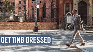 GETTING DRESSED || How to Pull Off a Light Fall Suit