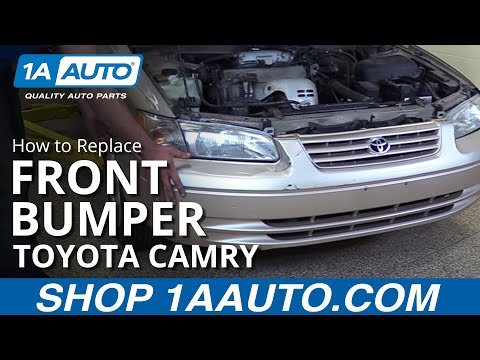 How To Remove Front Bumper On 97 01 Toyota Camry Youtube