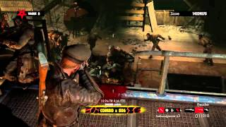 Zombie Army Trilogy  Horde Mode Flood Of Tears World Record Combo X900 17Million SCORE
