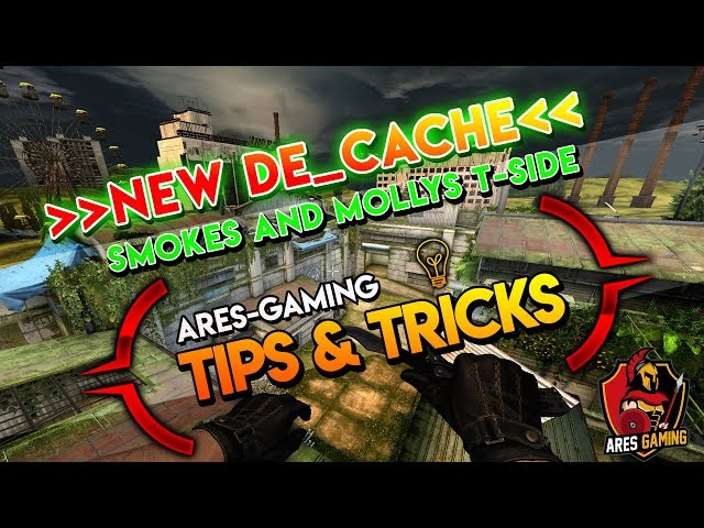 Tips & tricks: NEW DE_CACHE BASIC T-SIDE SMOKES/MOLOTOVS [CS:GO] 2019 by ares-gaming