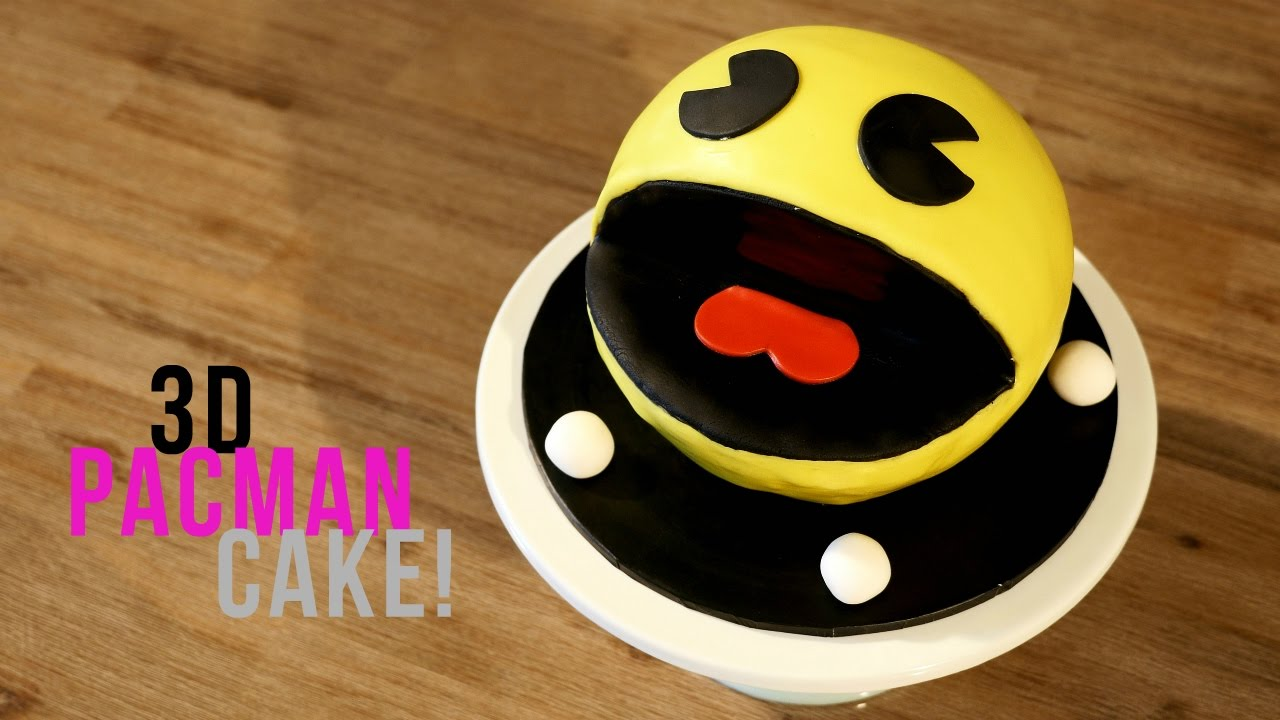 How To Make A 3d Pacman Cake Bake Bites Youtube