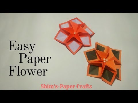 how-to-make-easy-paper-flower-step-by-step|shim's-paper-crafts