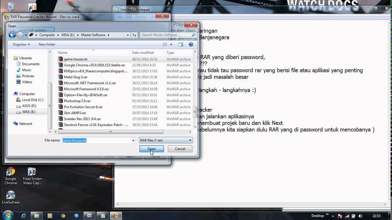cara buka file rar yang dipassword