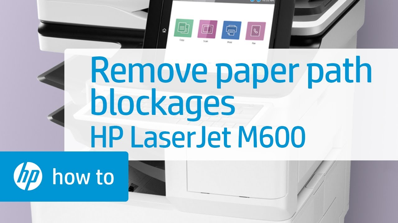 Removing Hard To Find Paper Path Blockages Hp Laserjet M600 Series Printers Hp Youtube