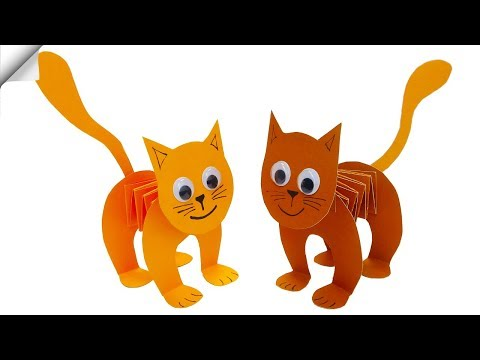 Paper CAT | Moving paper toys | Paper crafts for kids